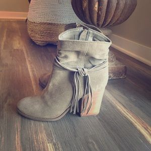 Jessica Simpson booties. Olive Green.